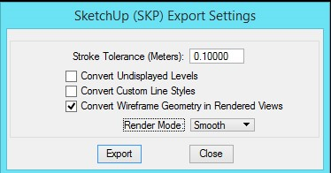 Best Practice for Importing Microstation Files into Sketchup
